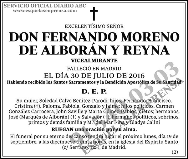 Fernando Moreno de Alborán y Reyna